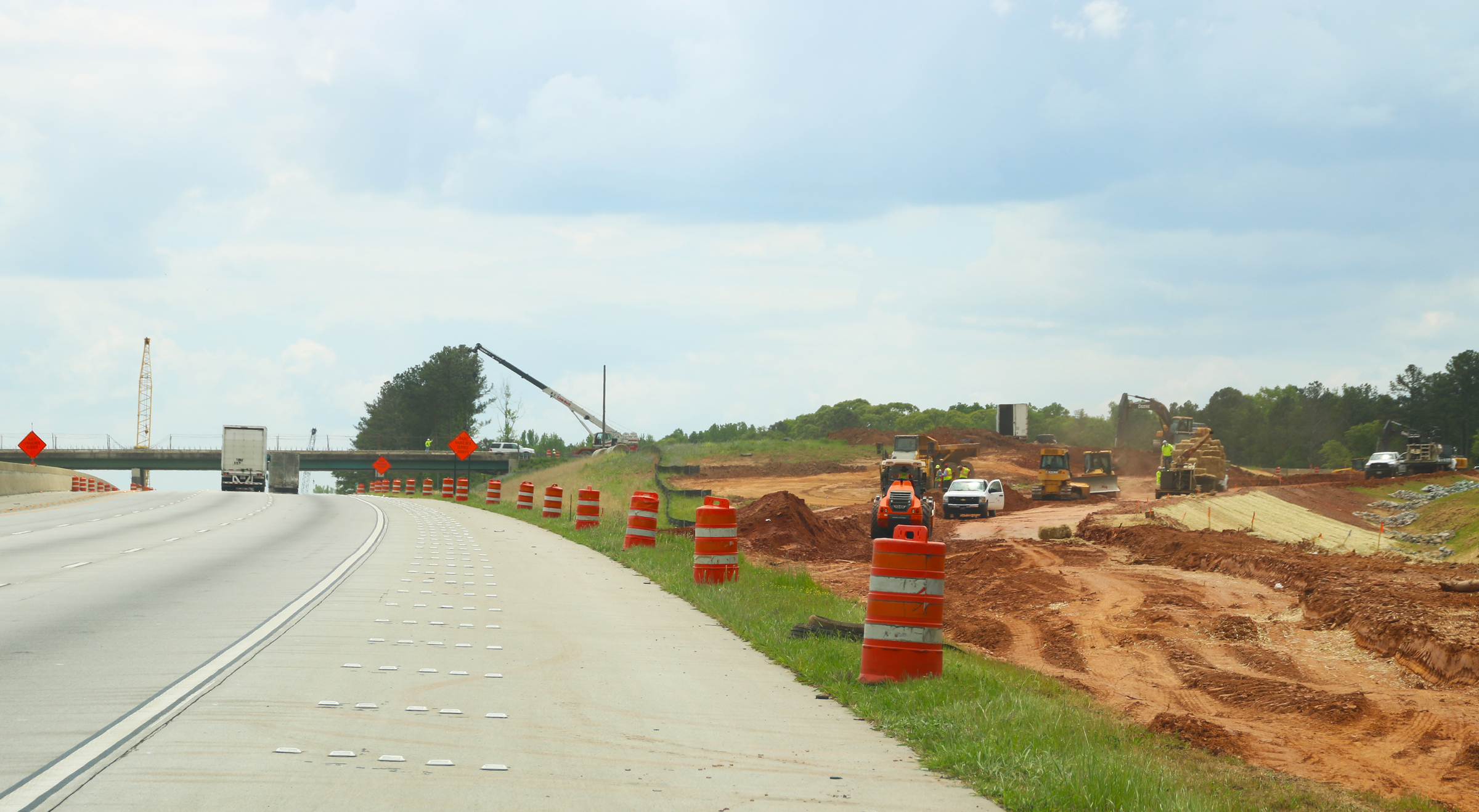 View of Poplar Road interchange from the south